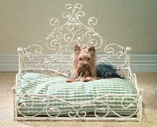 "PET SUPPLIES - ""FRENCH QUARTER"" PET BED - DISTRESSED ANTIQUE WHITE - DOG BED"