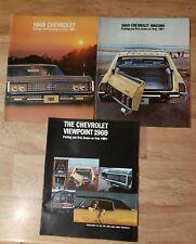 3 1969 Chevrolet Brochures station wagon impala chevelle