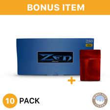 10 Boxes Zen Light King Size Cigarette Tube Tobacco Blue& bonus case