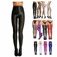 Women's Shiny Lingerie Pantyhose Sheer Stocking Suspender Tights Socks Long Club