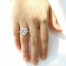 3.30 Carat White Heart Moissanite Beautiful Women's Engagement Ring 925 Silver