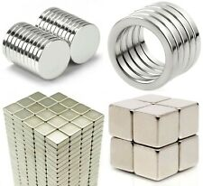 large & small NEODYMIUM MAGNETS ~ discs CUBES squares RINGS skittles BLOCK bars