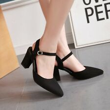 Women Elegant  Ankle Strap High Heels Pointed Toe Wedding Pumps Shoes Size 2-12