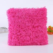 """18"""" Soft Fur Plush Square Throw Pillow Case Home Decor Sofa Waist Cushion Cover"""