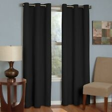 Eclipse Thermaback Microfiber Grommet Blackout Window Panel Home Cozy Decorative