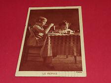 CPA CARTE POSTALE 1936 LE REPAS ENFANTS A TABLE