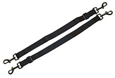 2 x Replacement Horse Rug Blanket Leg Straps Adjustable 60cm - 100cm BLACK