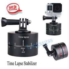 For Gopro DSLR Time Lapse Stabilizer 360 Degrees Panning Rotating Tripod Adapter