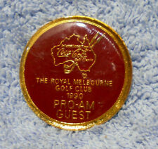 #D482.. 1990 ROYAL MELBOURNE GOLF CLUB PRO-AM GUEST BADGE, COCA COLA  SPONSOR