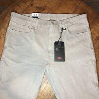 Levi's 511 Corduroy Pants Slim Fit Stretch Opal Gray 045114001 Size 38x32