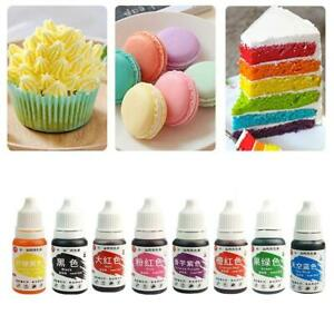 10ml Concentrated Edible Liquid Droplet Sugar Tint Food Colouring Cake Decor