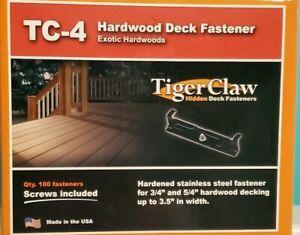Tiger Raw Hardwood Deck Fasterner TC4 Exotic Hardwood Stainless Steel Iron Wood
