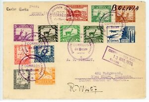 BOLIVIA--Registered Cover to the U. S. sent in 1939