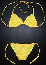Sexy BRIGHT YELLOW BIKINI 2 Piece Swimming Costume Swimsuit Ladies Swimwear Gift