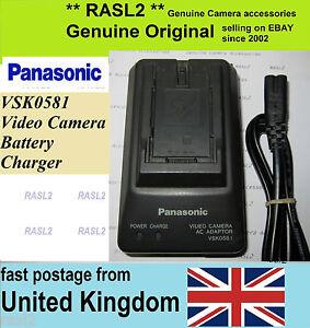 Original Panasonic VSK0581 Camcorder Charger AG- DVC AG-DVX NV-C NV-G GS Series