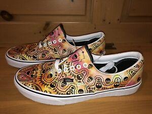 Vans Men's Era Bandana VN0A54F14FK Tie Dye Orange Skateboard Shoes Size 11