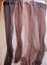 Vtg Lot of 6 Seamless Nylon Stockings Beige Brown Size 10