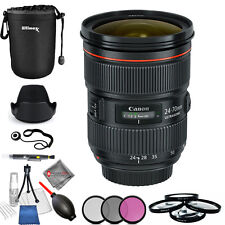 Canon EF 24-70mm f/2.8L II USM Lens - USA Model Pro Bundle Brand New