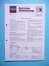 Service Manual-instrucciones para Grundig satellit 1400, original