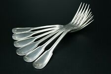 CHRISTOFLE ALFENIDE CHINON 6 DINNER FORKS SILVERPLATED BRILLANT LUSTER FRANCE