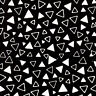LUNN FABRICS EXCLUSIVE BLACK & WHITE BATIK COTTON FABRIC YARD PACKED TRIANGLES