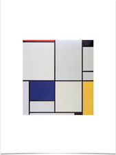 PIET MONDRIAN TABLEAU I RED BLUE YELLOW BLACK WHITE LIMITED EDITION ART PRINT