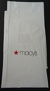 "Macy's 24"" x 54"" Suit Jacket Garment Storage Travel Bag NEW WHITE"