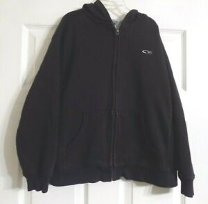 Boy's Black CHAMPION Long Sleeve Full Front Zip Up Hoodie Size M 8-10 Boys
