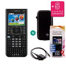 TI Nspire CX CAS Grafikrechner + Schutztasche /-Folie Ladekabel Garantie