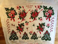 Star Dust Appliques Fabric Panel Flowers, Candy Canes, Christmas Trees