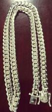 "Miami Cuban Link Chain Sterling Silver  28"" 10.10 mm.172 Grams"