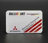 1Pcs Aluminum Car Modified Emblem Badge Sticker Logo for Mitsubishi Ralliart