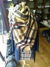 House of Tweed   Camel Thomson   Big Tartan Stole   Warm   Super Soft Wide Scarf