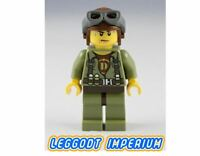 LEGO Minifigure - Hero Helicopter Pilot- Dino Jurassic dino002 FREE POST