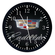 American Cadillac Black Frame Wall Clock Nice For Decor or Gifts E181