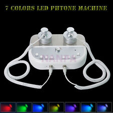 2 In1 7 Colors LED Photon Rejuvenation Microcurrent Facial Machine Light Therapy