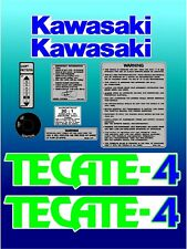 Full decal set for Kawasaki KXF250r Tecate-4  Tecate4 KXF 250 KXF250 gr/bl/wh