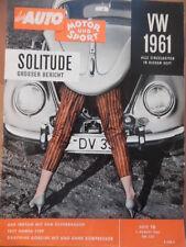 AUTO MOTOR UND SPORT 1.8. - 16/1960 VW Test Hansa 1100 Solitude Dauphine Gordini