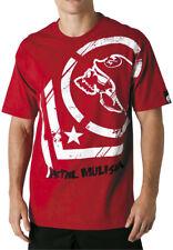 METAL MULISHA MSR PUNCTURED TEE / T-SHIRT - RED MENS MEDIUM -350339