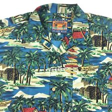 Pussers West Indies Mens Hawaiin Camp Shirt Size Large Short Sleeve Island