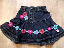 Mim-pi belle jupe avec häkelblumen Taille 98 Neuf st817