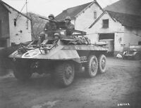 WWII B&W Photo US Army  M8 Greyhound Armored Car  WW2 World War Two / 3047