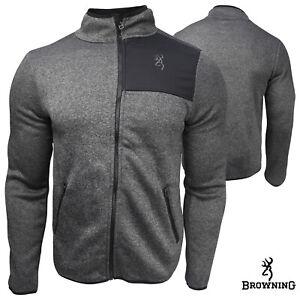 Browning Tintic Fleece Jacket (XL)- Hthr Black