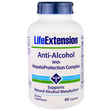 Life Extension Anti-Alcohol with HepatoProtection Complex 60 Caps -Glutathione