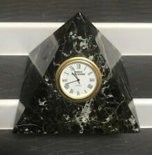 """GENUINE MARVLE ONYX AMERICAN STOCK EXCHANGE CUT OUT SILCON ELECTRONICS CLOCK 4"""""""
