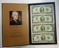 2003 A  $2 Uncut Sheet (4) Federal Reserve Notes  DALLAS scarcer bank  w/folder