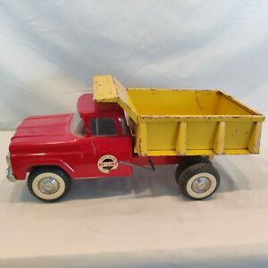 Vintage 1960's 'Red & Yellow' Nylint No. 5100 Dump Truck, nice rare piece. Wow!