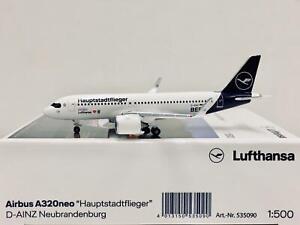 "Herpa Wings Lufthansa Airbus A320neo ""Hauptstadtflieger"" 1:500 D-AINZ 535090"