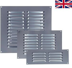 Louvre Air Vent Aluminium Silver Louvered Ventilation Ventilator Grille Cover