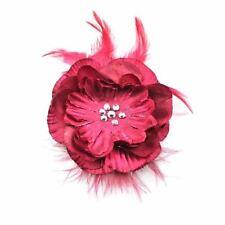 Accessoires de coiffure rouge en satin pour femme
